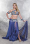 blue Egyptian belly dance costume