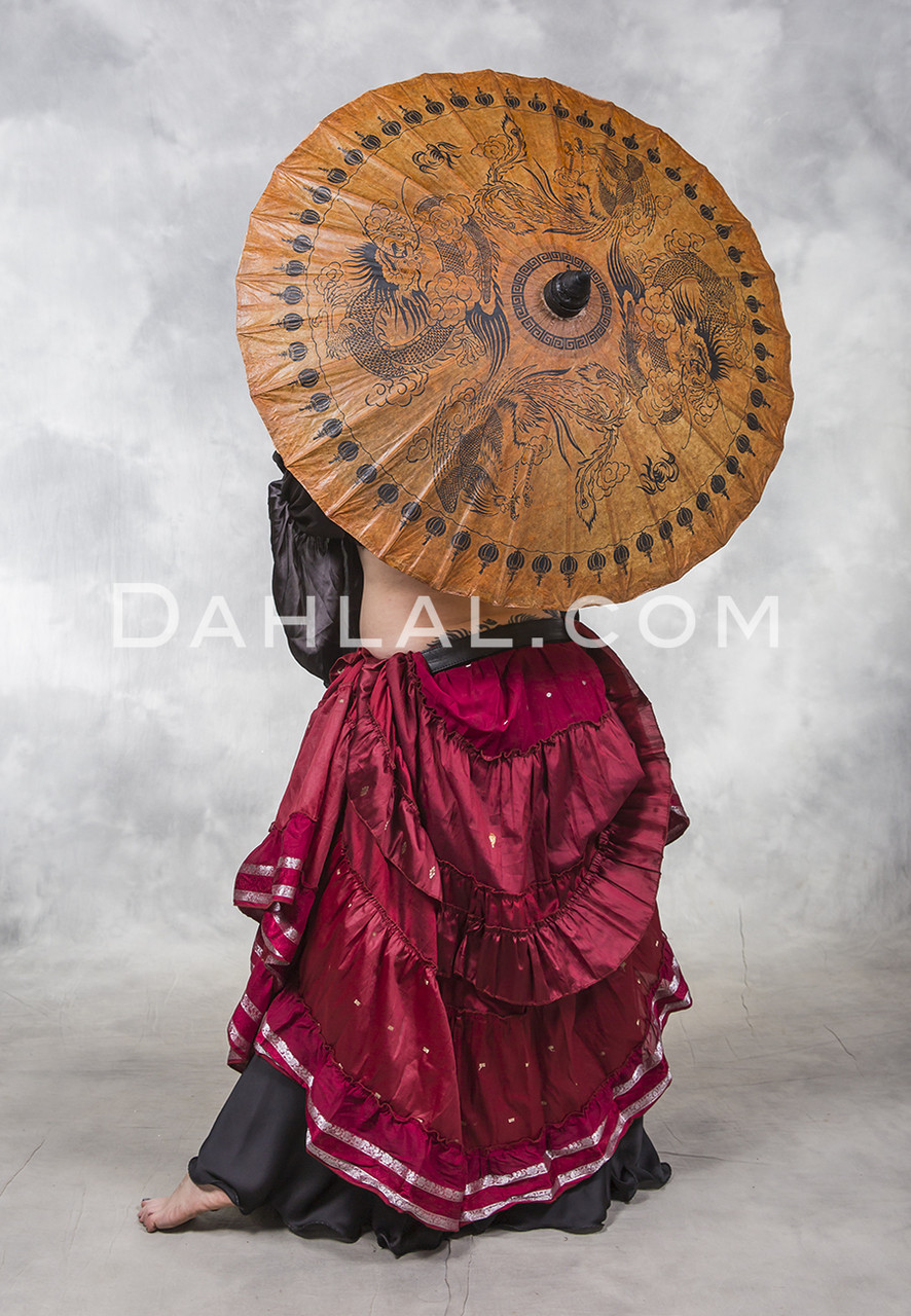 Bamboo And Saa Paper Parasols For Tribal Belly Dance