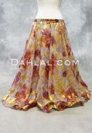 floral chiffon circle skirt