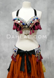 tribal belly dance Kuchi bra and belt set
