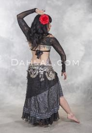 Dark Moon tribal belly dance skirt