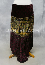 EARTHY VELOUR SKIRT for belly dance