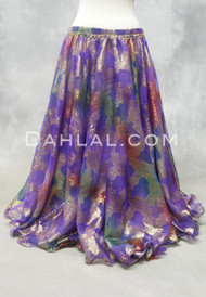 DYNASTY III Metallic Double Chiffon Skirt in Purple