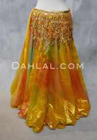 DYNASTY V Metallic Double Chiffon Skirt in Gold