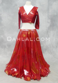 Metallic Double Chiffon Skirt for belly dance