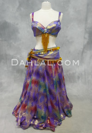 Lavender Egyptian belly dance costume