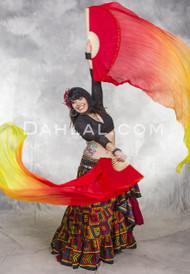 Gradient Silk Veil Fans - 9 Colors Available