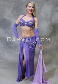 Lavender Eman Zaki belly dance costume