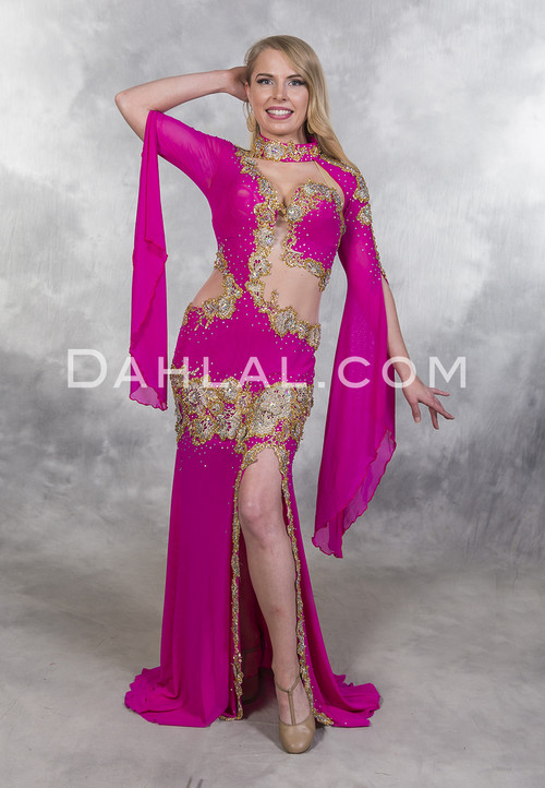 Stunning Riviera Roses Belly Dance Dress by Eman Zaki available at Dahlal.com