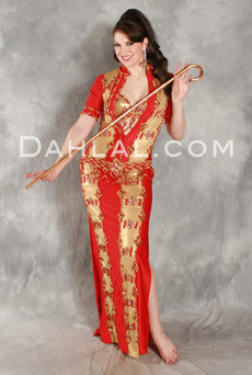 Red and Gold Pharaonics of Egypt, Egyptian Belly Dance Costume