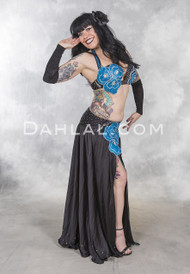 EVENING IN BLOOM in Black belly dance costume