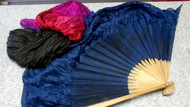 2ND QUALITY 30% OFF Gradient Silk Veil Fans in Midnight Blue, Magenta, Red and Black