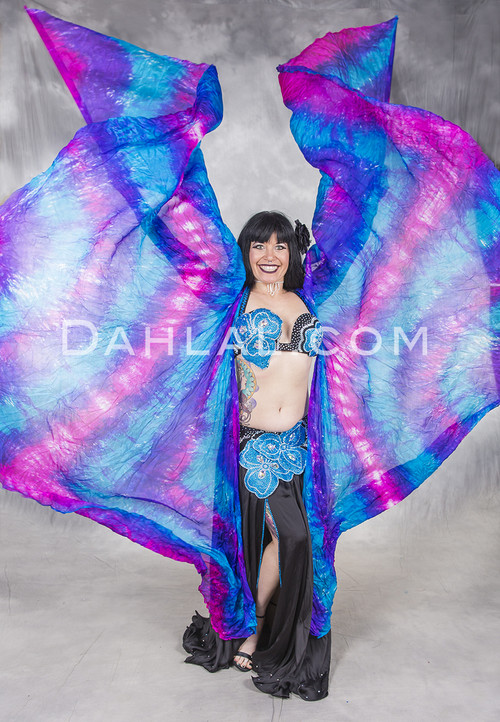 Silk Butterfly Wings of Isis for belly dance