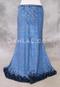 Blue Glitter Velvet Mermaid Skirt for Belly Dance