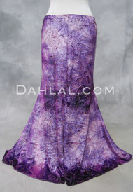 Pink and Purple Glitter Velvet Mermaid Skirt for Belly Dance