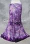 Pink and Purple Glitter Velvet Mermaid Skirt for Belly Dance