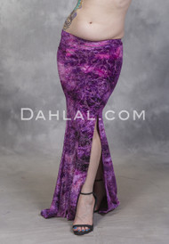 EMPRESS Pink and Purple Glitter Velvet Mermaid Skirt by Off The Nile