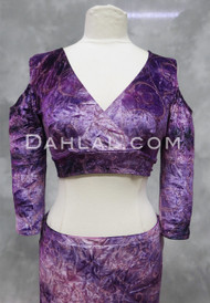Empress Pink and Purple Velvet Mock Wrap Top