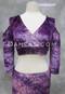 Empress Pink and Purple Velvet Mock Wrap Top