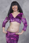 Empress Pink and Purple Glitter Velvet Mock Wrap Top