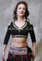 Black Cotton Choli Top for Tribal Belly Dance