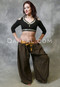 black belly dance choli