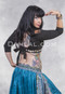 black belly dance choli back