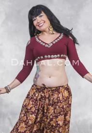 wine colored choli for bellydance
