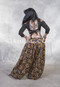 Full Length Back View Shown with Floral Printed Harem Pants
