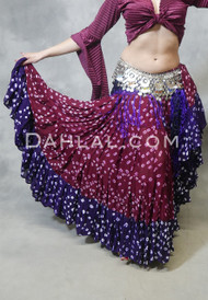 TWO TONE JAIPUR SKIRT for Belly Dance - 4 Colors Available