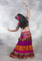 Full Length Back View with Ruched Tribal Skirt