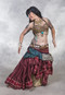 Sari Belt Shown with Tribal Bra and Tribal 25 Yard Skirt