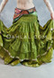 Multi-Pocket Sari Belt with Ruched Skirt