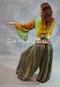 Back View of Sari Belt over Harem Pants