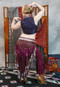 Twilight Tales II Tie Front High-Low Skirt in Wine