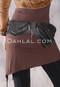 Black Two Pocket Leather Belt