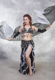RAVEN ROSE- Black and White, by Rising Stars, Egyptian Belly Dance Costume