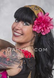 Gold Lurex Paisley Print Headband, Belly Dance Hair Accessories
