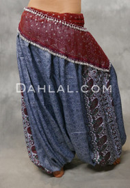 Slate Blue Belly Dance Harem Pants