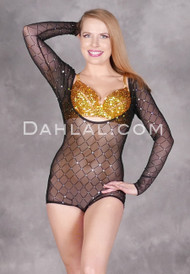 Diamond Studded Sekhmet Body Stocking