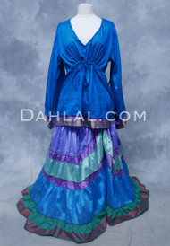 Vintage Sari Goddess Top