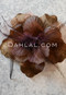 chocolate hair flower