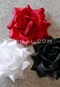 red, black and white hair flowers