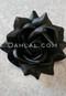 black hair flower