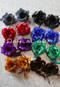 Two-Pack Satin and Mesh Flower Hair Clip