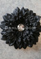 black hair flower