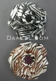 Zebra Print Roses with Mesh Petals