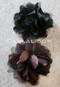 black and brown hair flowers