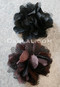 black and brown hair flowers