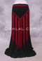 Black and Red Crocheted Shawl for Belly Dance